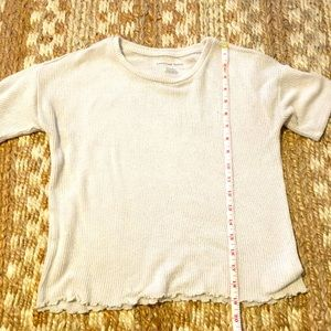 American Eagle slightly cropped ribbed tee